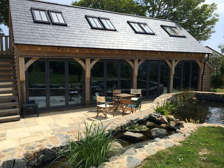 Detached oak framed garden room.