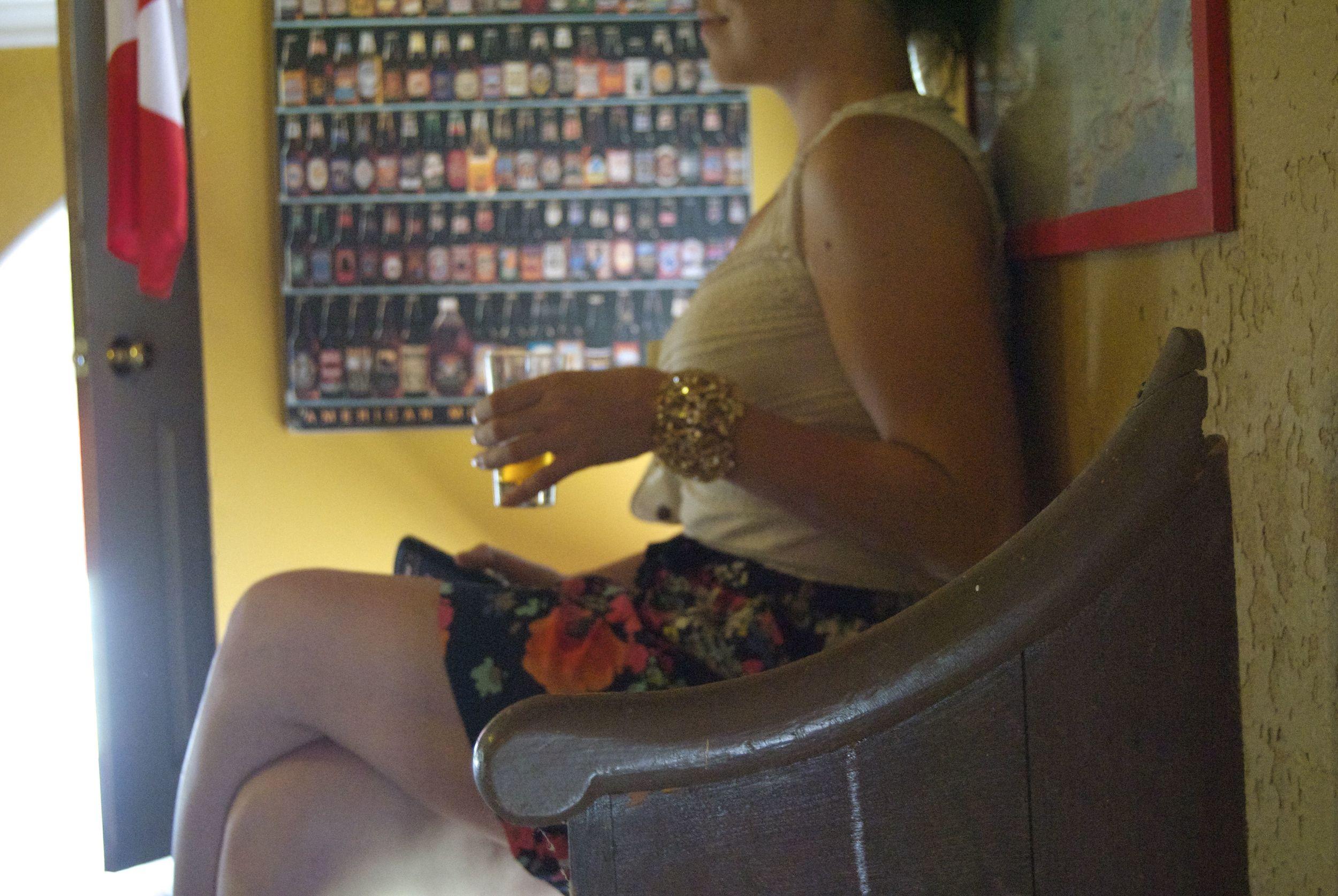 sitting-in-church-drinking