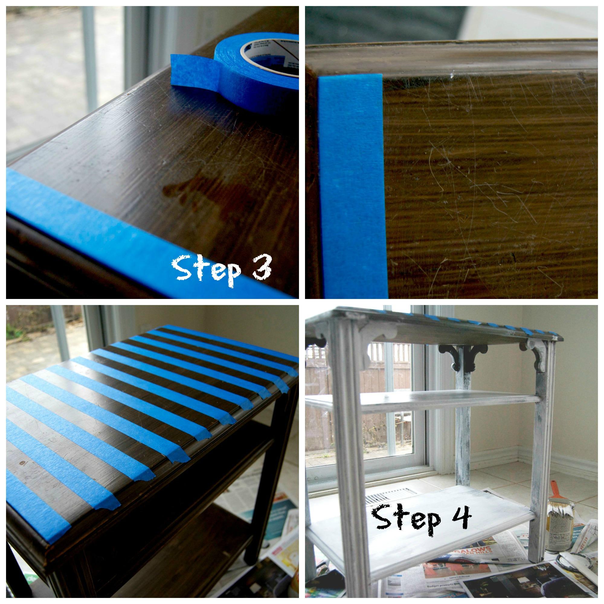 DIY Basket Weave Tabletop