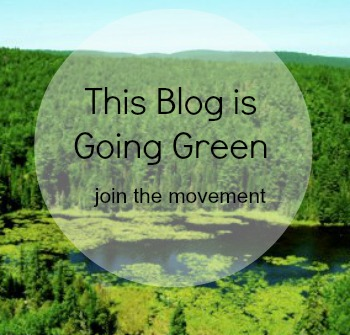 this blog is going green