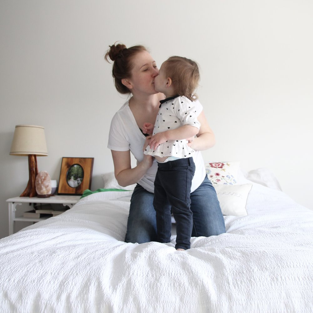 Hi there! I'm Emily and this blog is my space for all things motherhood and the life that happens in-between. We live in Canada's Capital City with our sweet baby j and a gigantic lab named Cliff. Read More....