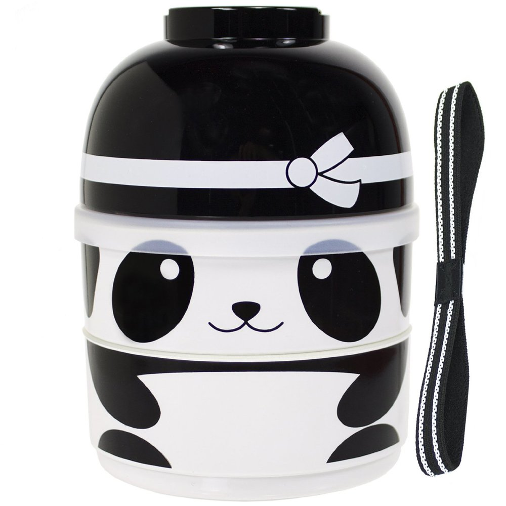 Eat your lunch out of a panda's head. Don't think about it  too  much.