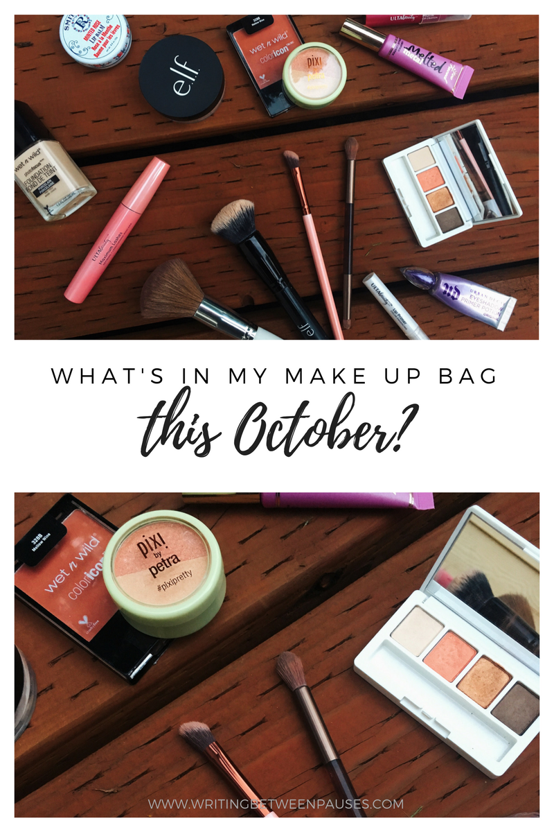 What's In My October Make Up Bag? | Writing Between Pauses