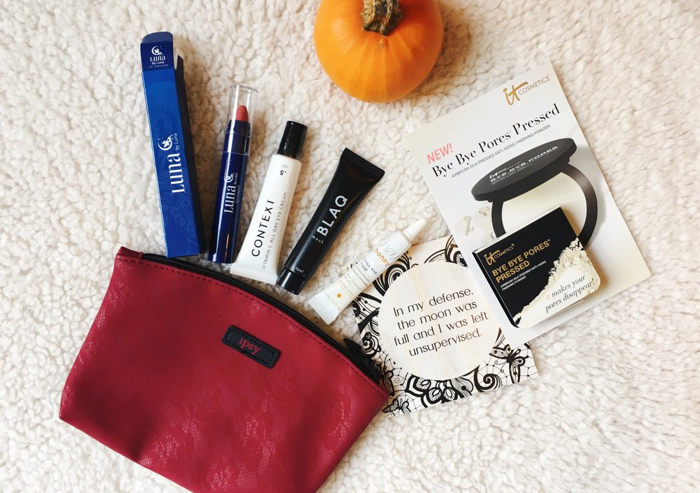 October Ipsy Bag | Writing Between Pauses