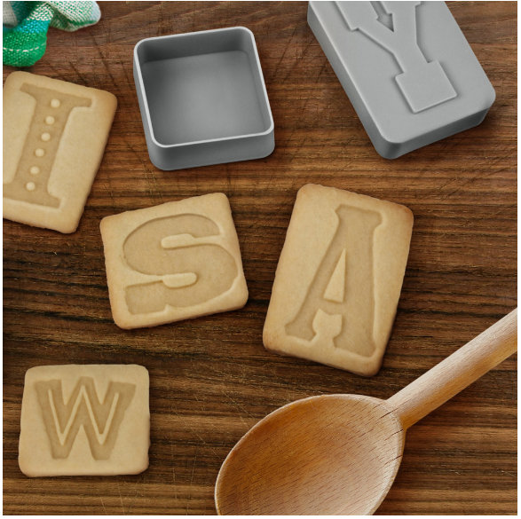 Typography Cookie Cutters | Writing Between Pauses