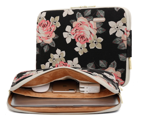Floral Laptop Case | Writing Between Pauses