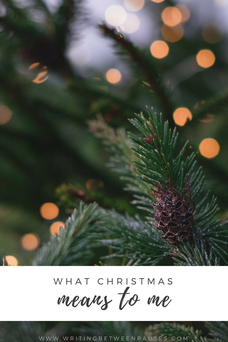 what christmas means to me writing between pauses