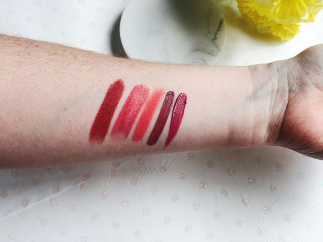 Pink Lipstick Swatches | Writing Between Pauses