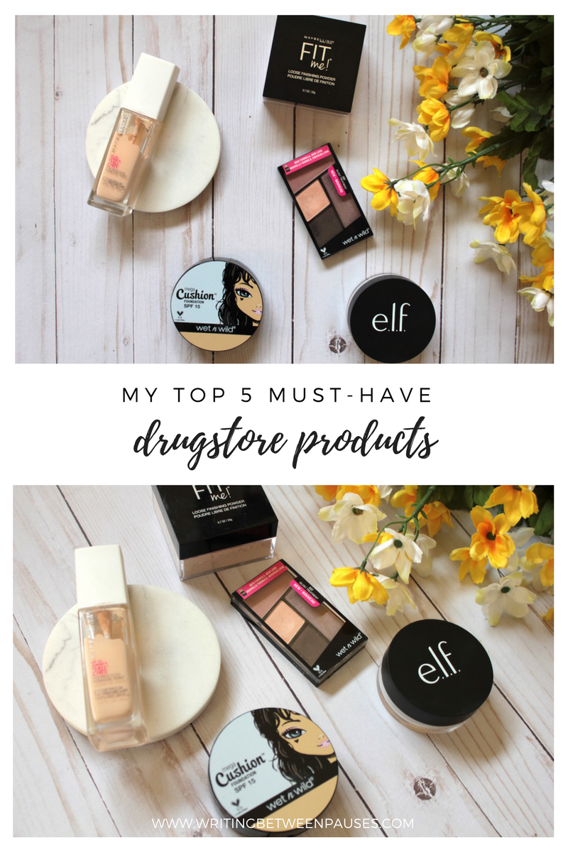 My Top 5 Must-Have Drugstore Products | Writing Between Pauses