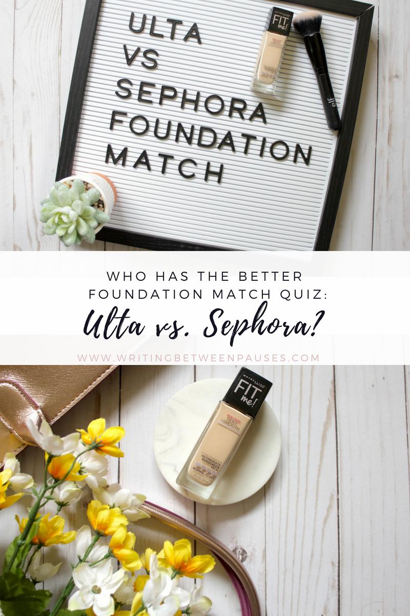 Who Has the Better Foundation Match Quiz: Ulta vs  Sephora