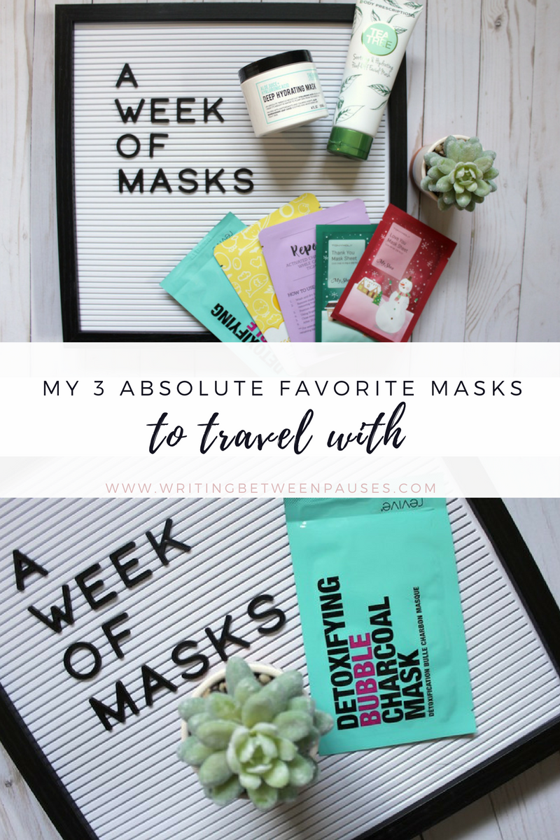 My 3 Absolute Favorite Masks to Travel With | Writing Between Pauses