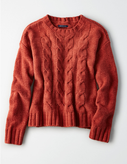 American Eagle Autumn Sweater | Writing Between Pauses