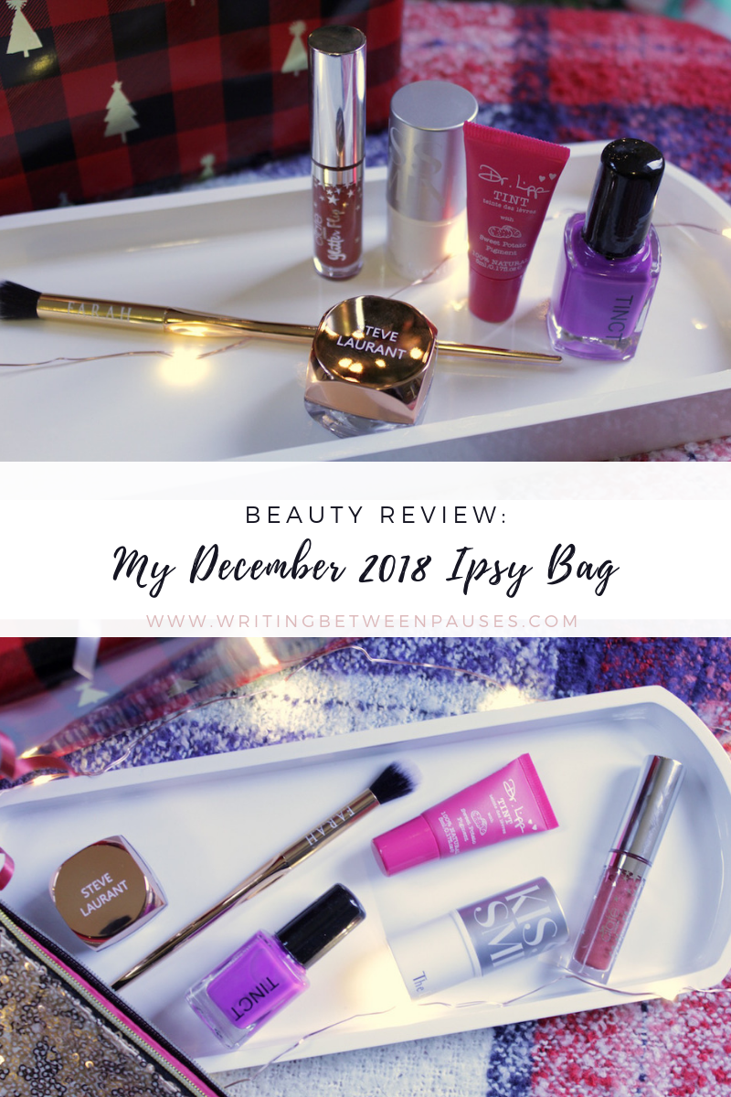 Beauty Review: My December 2018 Ipsy Bag | Writing Between Pauses