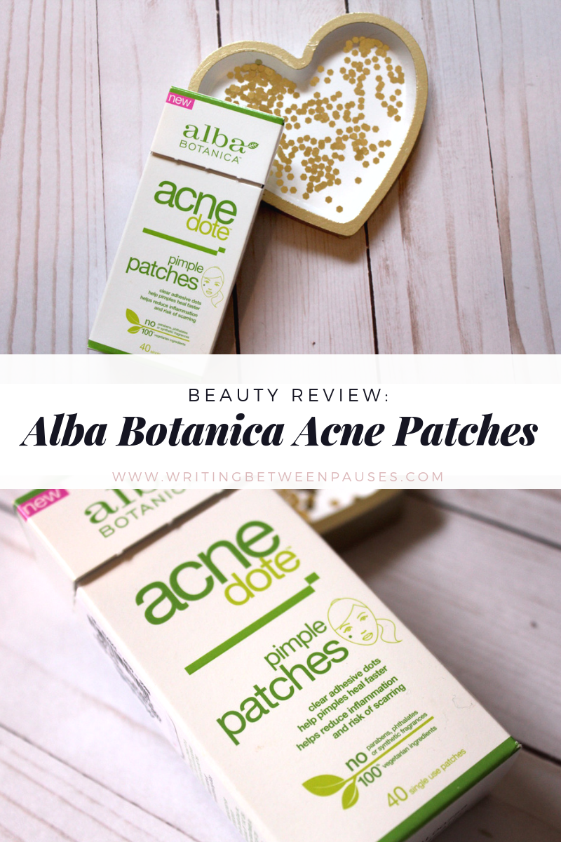 Beauty Review: Alba Botanica Acne Patches | Writing Between Pauses