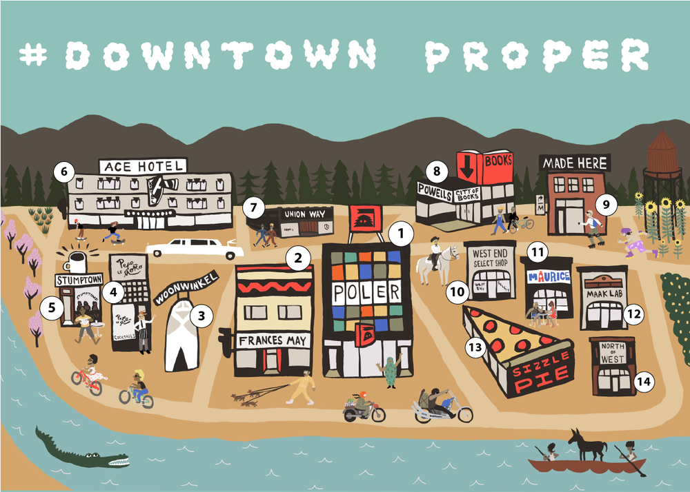 Downtown Proper Map