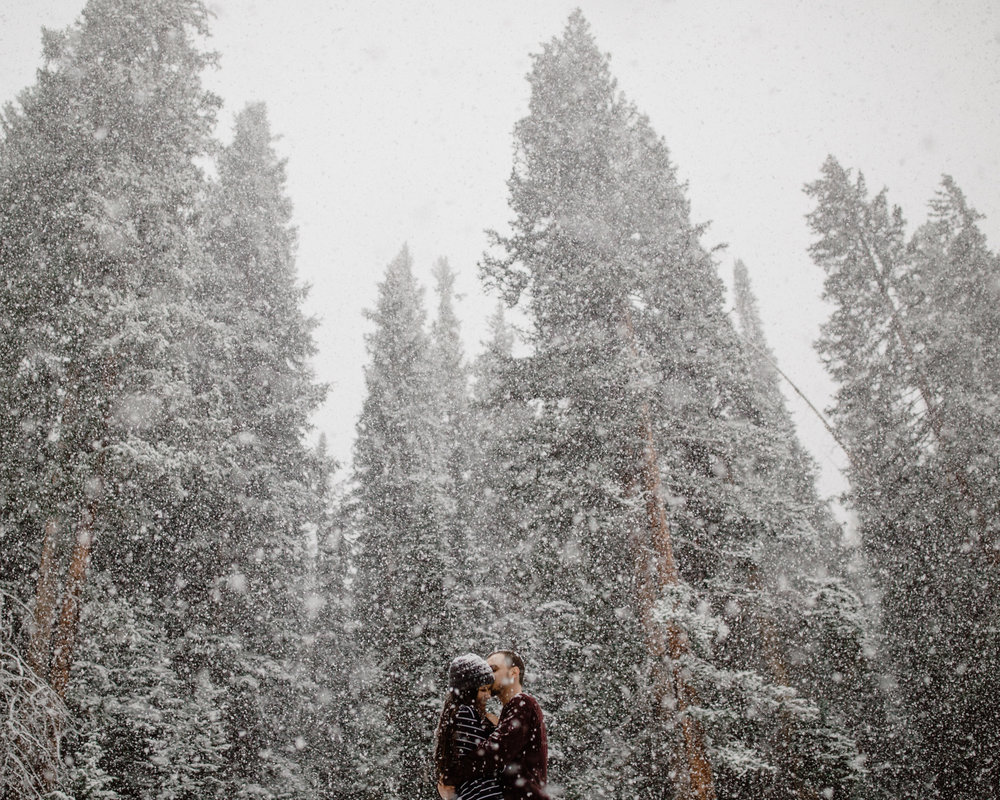 Colorado Snow Winter Rocky Mountain Engagement Session