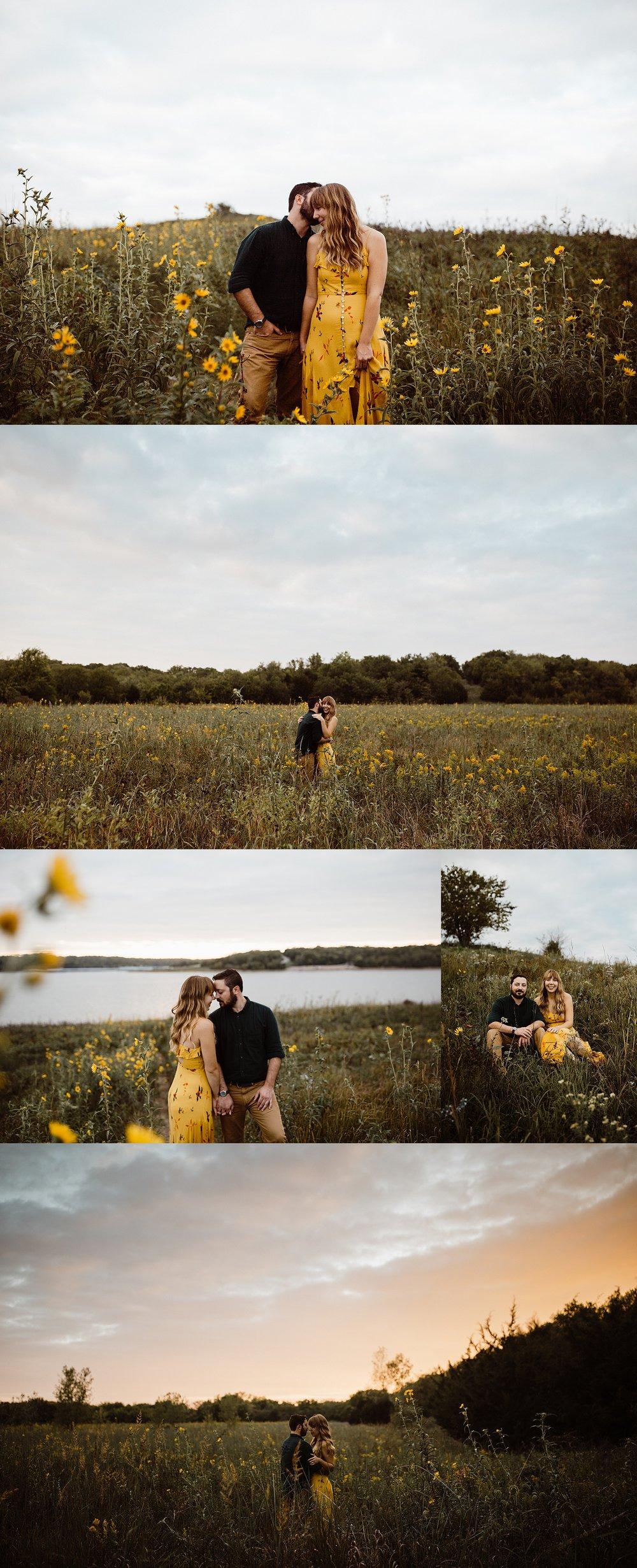 wildflower colorado lake engagement session