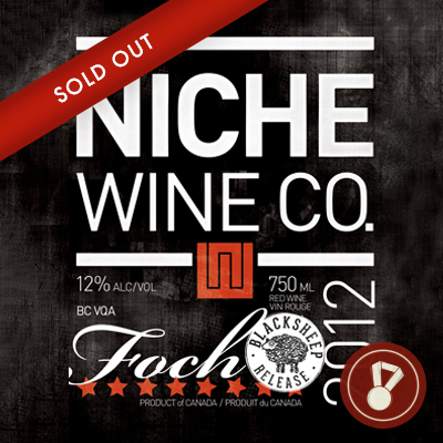 2012 Foch Black Sheep All Canadian Wine Awards | Double Gold CLICK FOR DETAILS  >