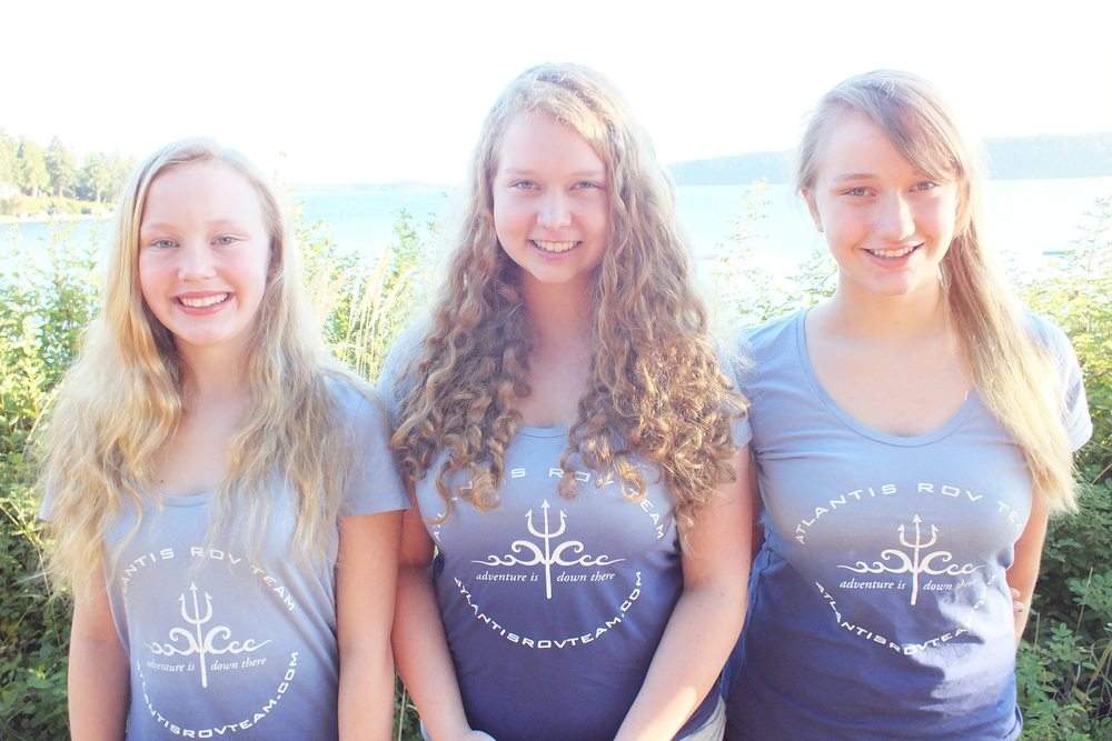 "Hannah & Haley McConnaughey, Annika Hustad,  Atlantis ROV Team    Atlantis ROV Team is an award-winning underwater robotics team of middle- and high-school students from Whidbey Island. They have amassed regional, international, and professional accolades for their successes at competition and for STEM outreach. This August, the all-girl team of Hannah, Haley, and Annika, won the Black Sea International ROV (Remotely Operated Vehicle) Competition in Constanta, Romania in the high school division.     With a deep commitment to ""paying it forward"", they have reached hundreds of people with STEM outreach over five years:  as exhibitors and workshop presenters at the Sally Ride Science Festival, as the youngest presenters ever selected to host Seattle Science Festival Signature Events, in partnership with the Sea Scouts on the tall ship Odyssey, and as the multiple year winners of the People's Choice award for their hands-on robotics exhibits at the Whidbey Area Fair.  Atlantis has garnered allocates from the Seattle Times to the Washington Post."