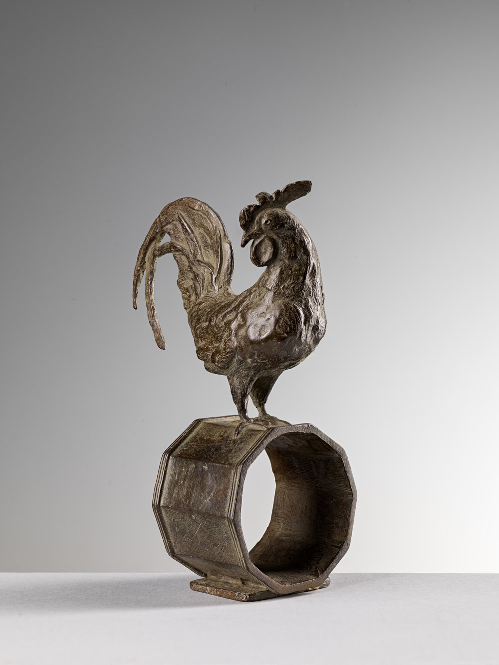 16. Cockerel Napkin Ring, 'Gallo' by Nicola Lazzari 12cm H x 9cm W x 5cm D, .jpg