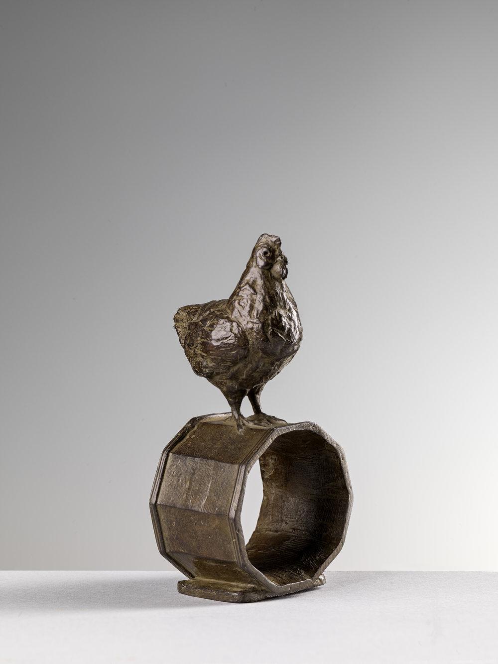 17. Hen Napkin Ring, 'Gallina' by Nicola Lazzari 11cm H x 5cm W x 5cm D.jpg