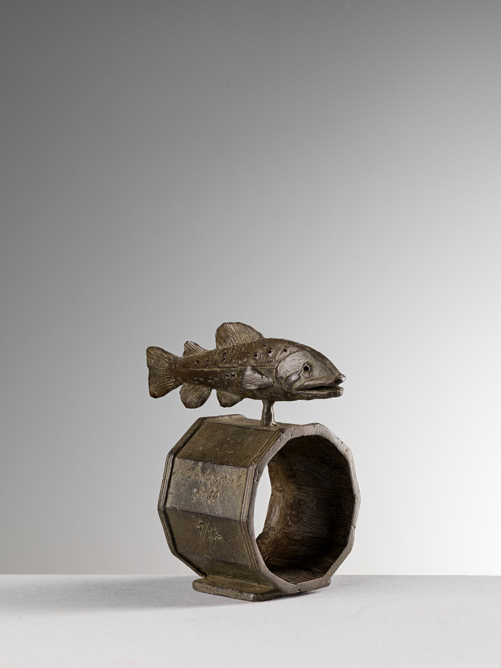 18. Fish Napkin Ring, ' Pesce' by Nicola Lazzari 8cm H x 5cm W x 4cm D .jpg