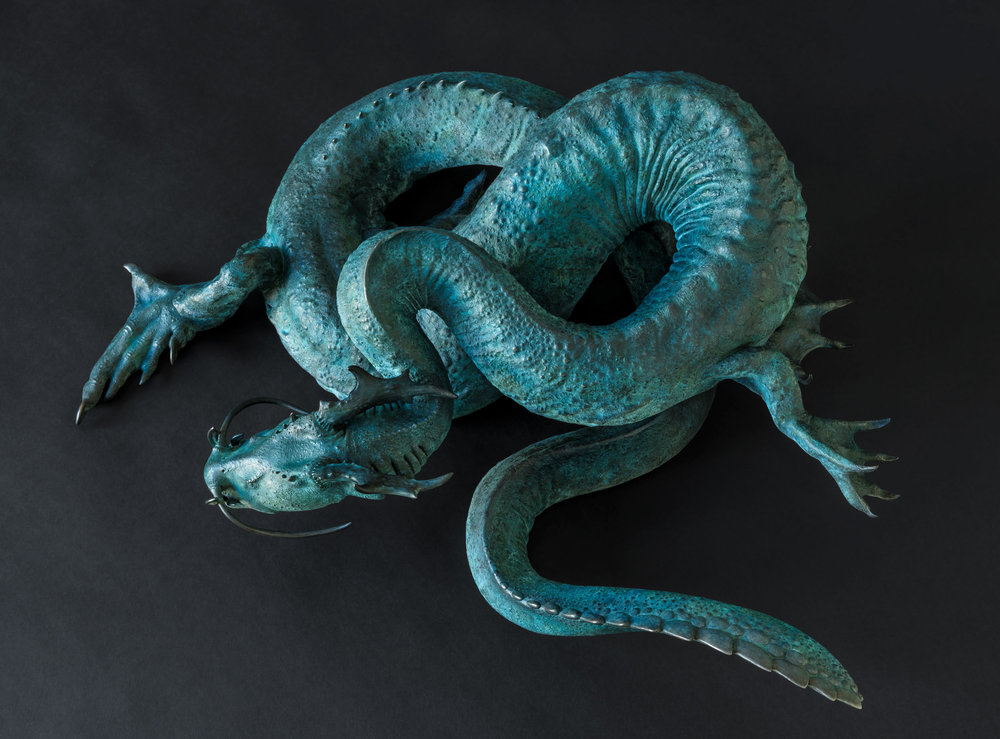 2. Midgard Serpent Maquette by Nick Bibby, Edition of 12, 8 x 23 x 15 inches (20 x 58 x 38cm).jpg