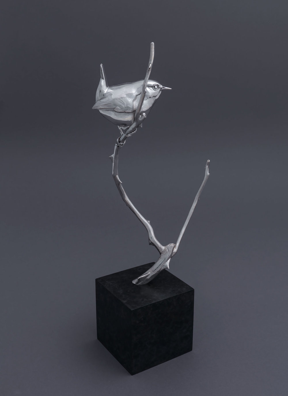 8.1 Silver Wren II by Nick Bibby, Edition of 25, 13 x 5 x 3.5inches (33 x 13 x 9cm).jpg
