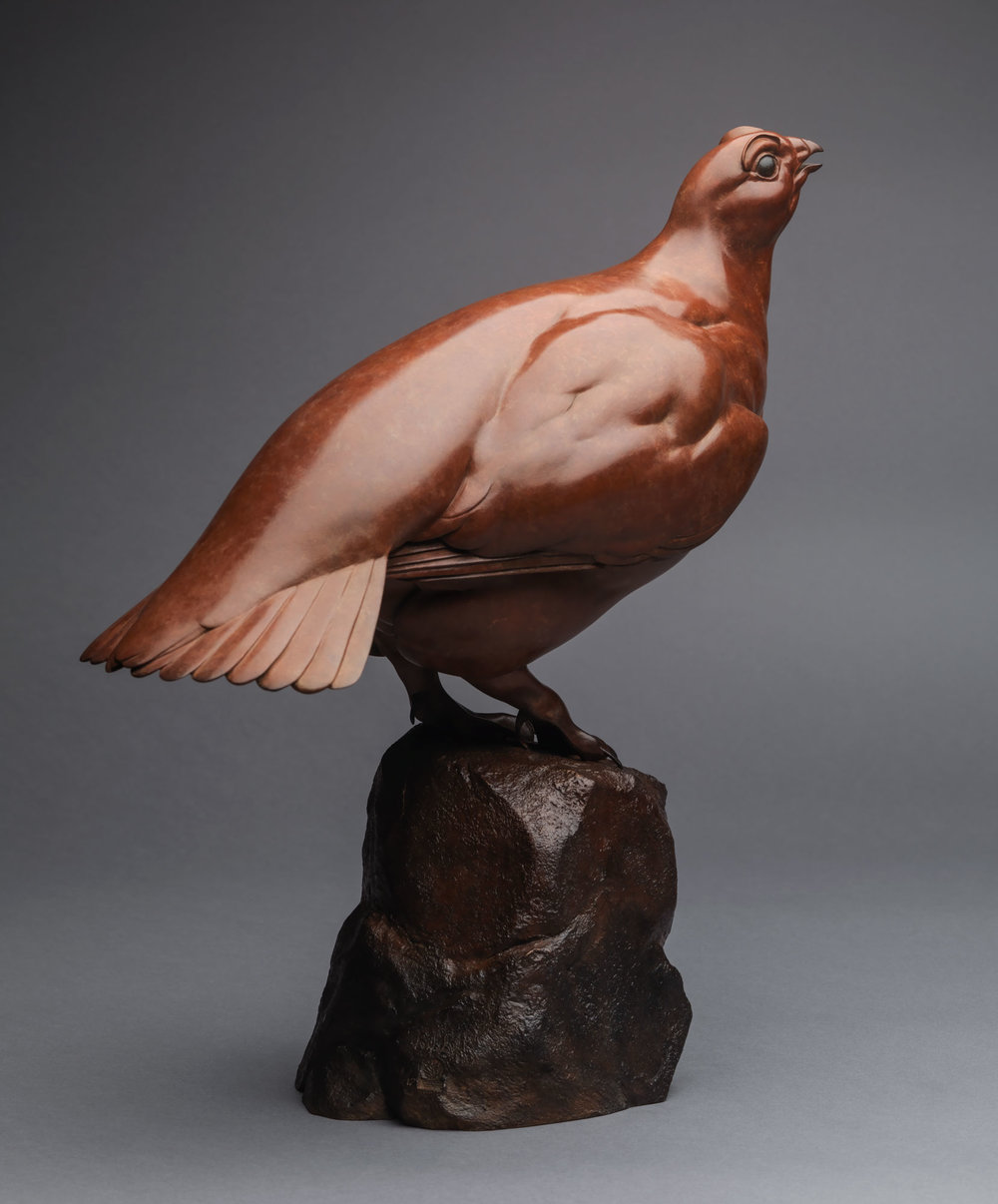 12. Red Grouse by Nick Bibby, Edition of 12, 14 x 12 x 7 inches (36 x 30 x 18cm).jpg