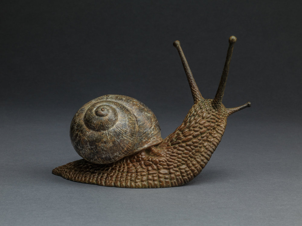 14. Garden Snail by Nick Bibby, Edition of 25, 5 x 6 x 2.5 inches (13 x 15 x 6cm).jpg
