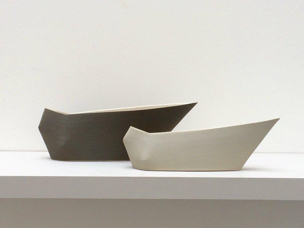 107-8. Geometric Vases