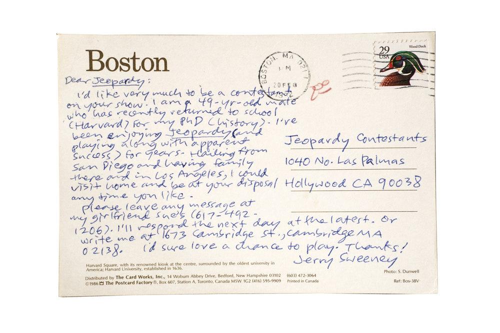 Jerry Sweeny, Boston, Massachusetts