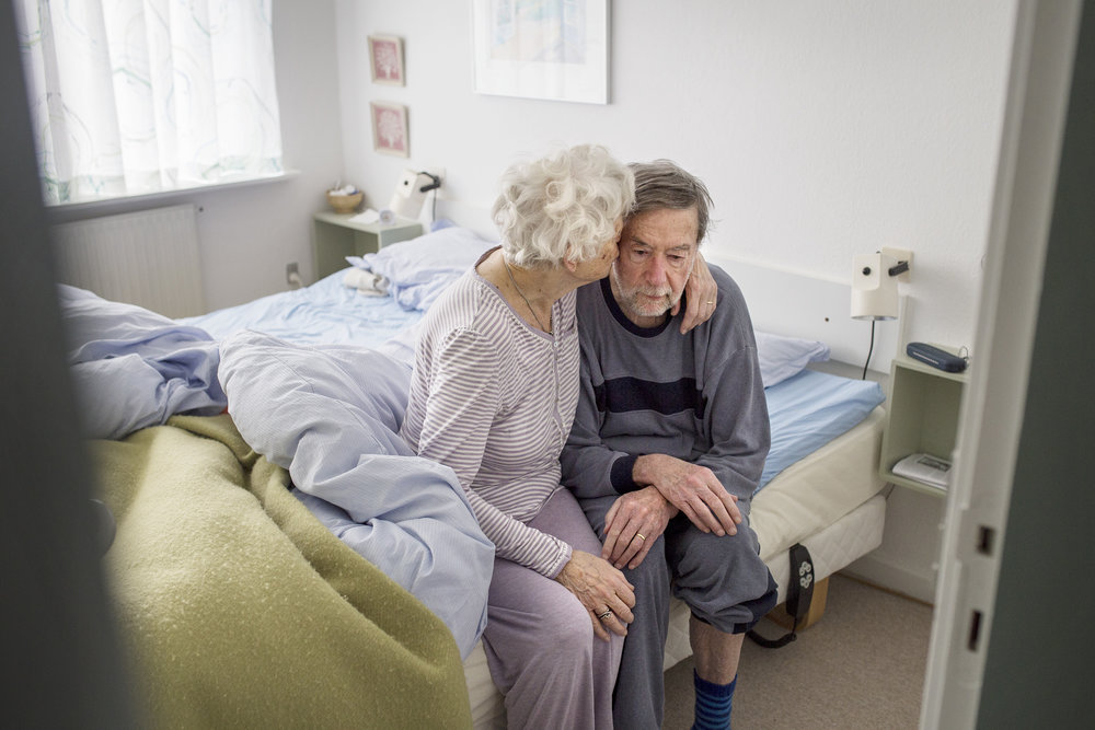 """""""Poul was a lieutenant when i was a nurse at the hospital in Randers. Then some friends of mine invited me to the barracks for dinner, and then there was Poul... Well, then we started seeing each other… That was it."""""""