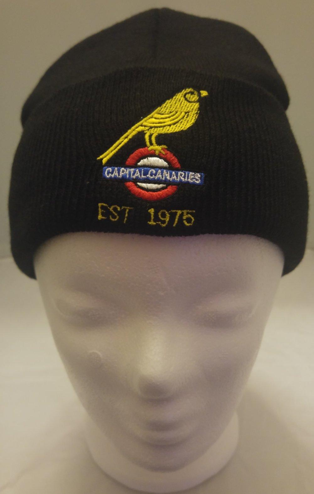 38d0da729dc0a Black Beanie Hat — Capital Canaries