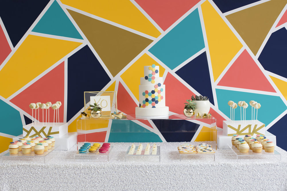 Geometric Colour Pop Sweet Table