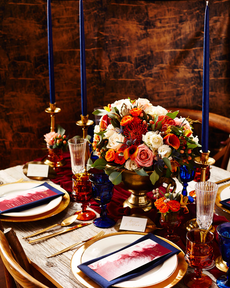 August In Bloom - Elegant Tablescape with Floral Arrangement - The New Romance