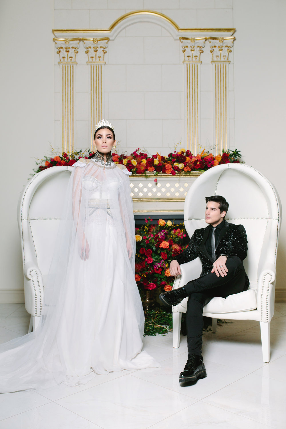 August In Bloom - Couple at Wedding Ceremony - Love Balmain