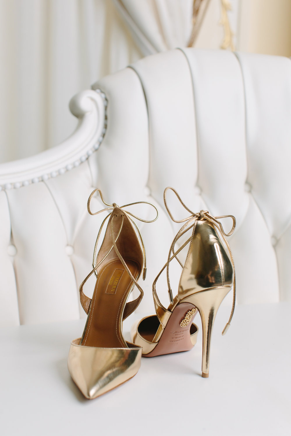 Gold wedding shoes - Love, Balmain (Wedluxe)