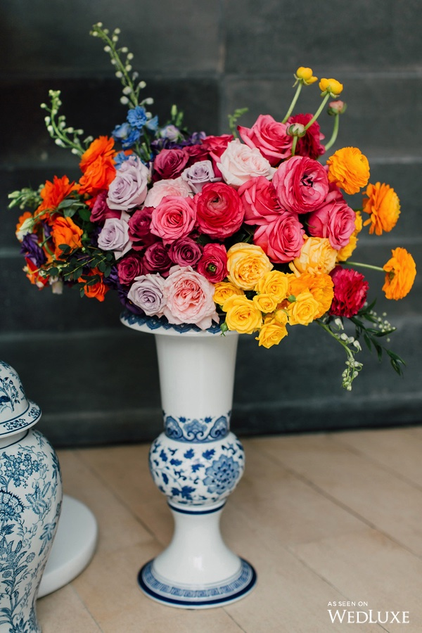 Colourful florals - Dreaming of Oscar (Wedluxe)