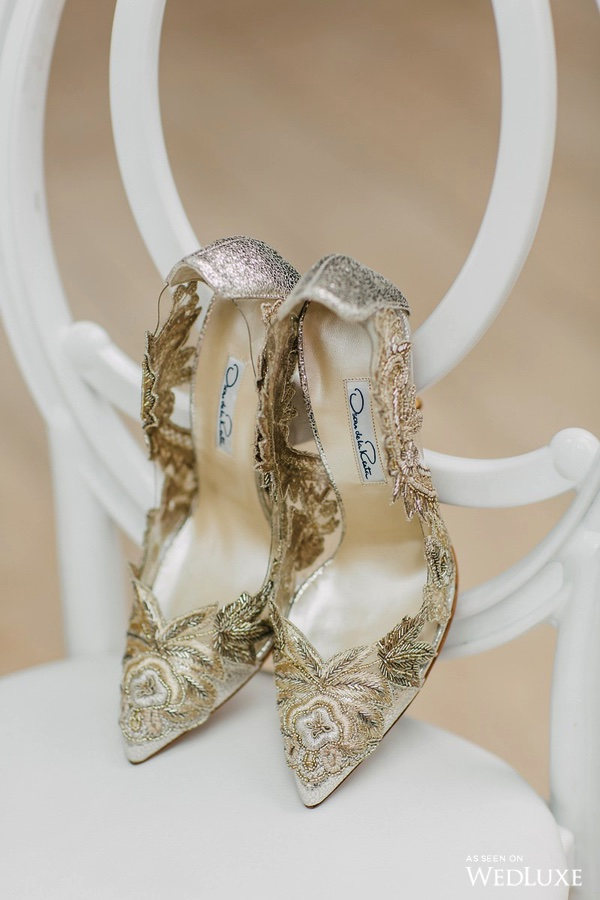 Oscar de la Renta wedding shoes - Dreaming of Oscar (Wedluxe)