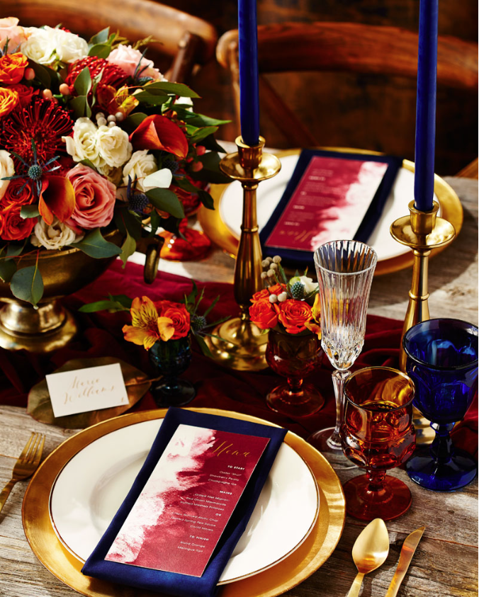 Autumn tablescape - The New Romance (Weddingbells)