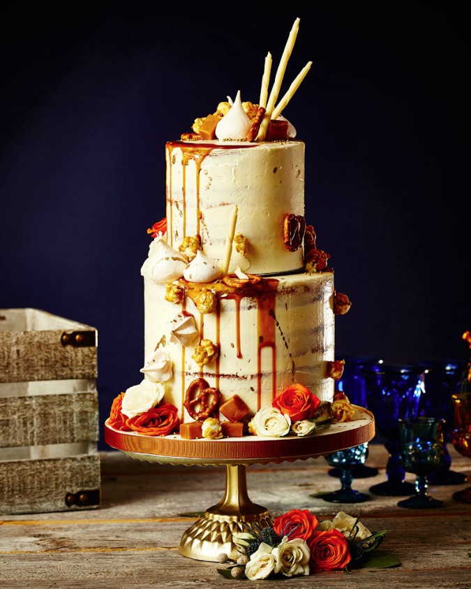 Caramel drip cake - The New Romance (Weddingbells)