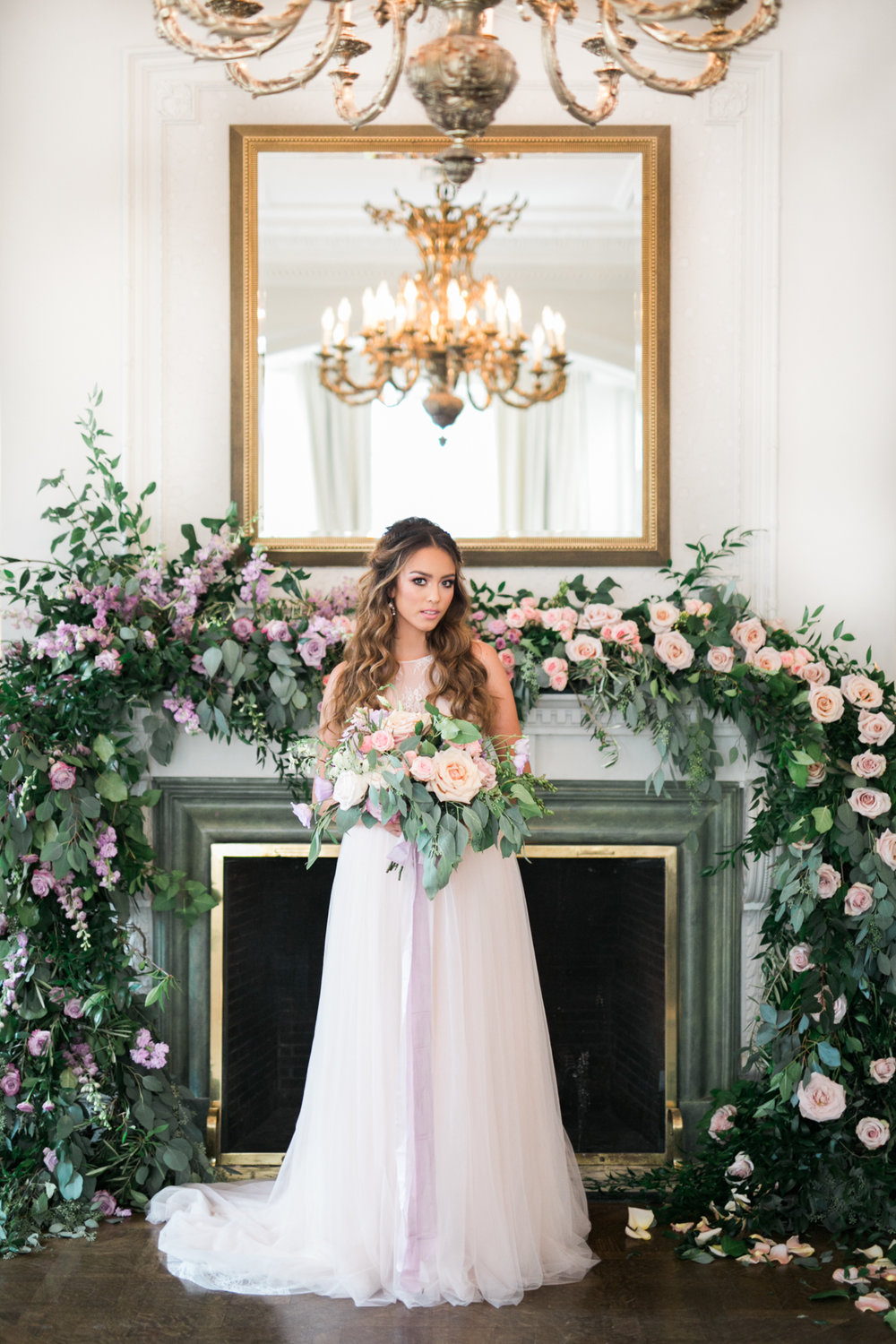 Ceremony with lush garland - Fairytale Wedding (Wedluxe)