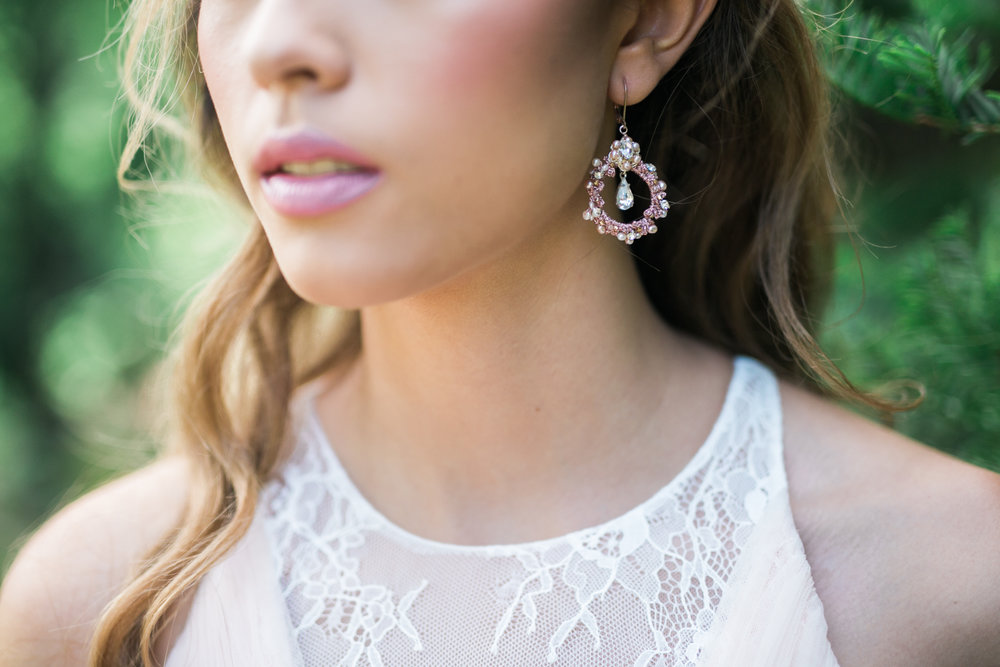 Rose gold bridal accessories - Fairytale Wedding (Wedluxe)