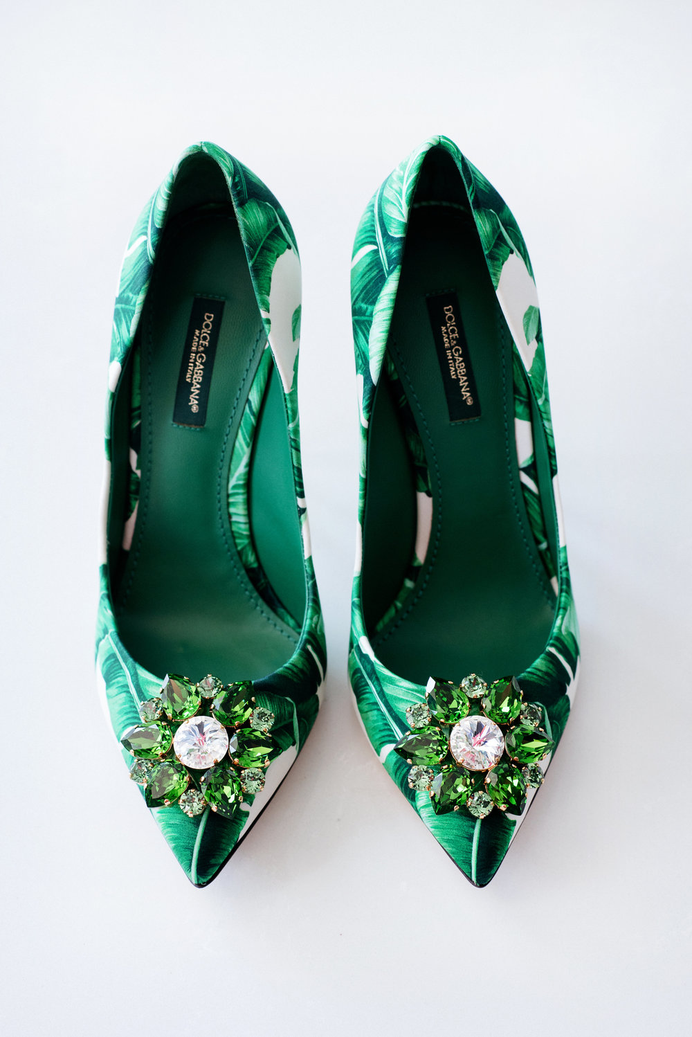 Dolce and Gabbana palm print shoes - Palma Dolce (Wedluxe)