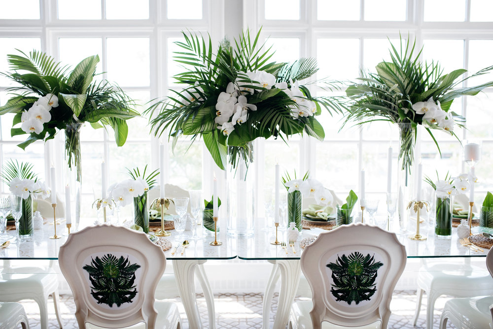 Tropical chic reception - Palma Dolce (Wedluxe)