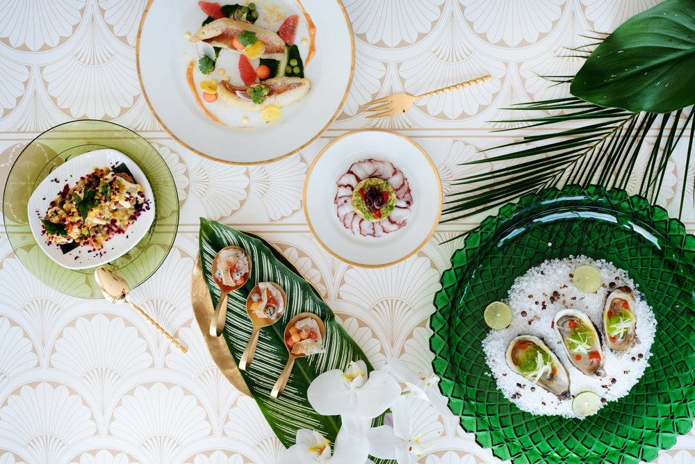 Tropical menu - Palma Dolce (Wedluxe)