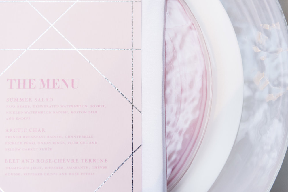 Menu - Dior Darling (Wedluxe)