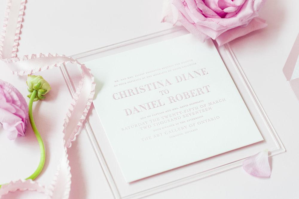 Main invite - Dior Darling (Wedluxe)