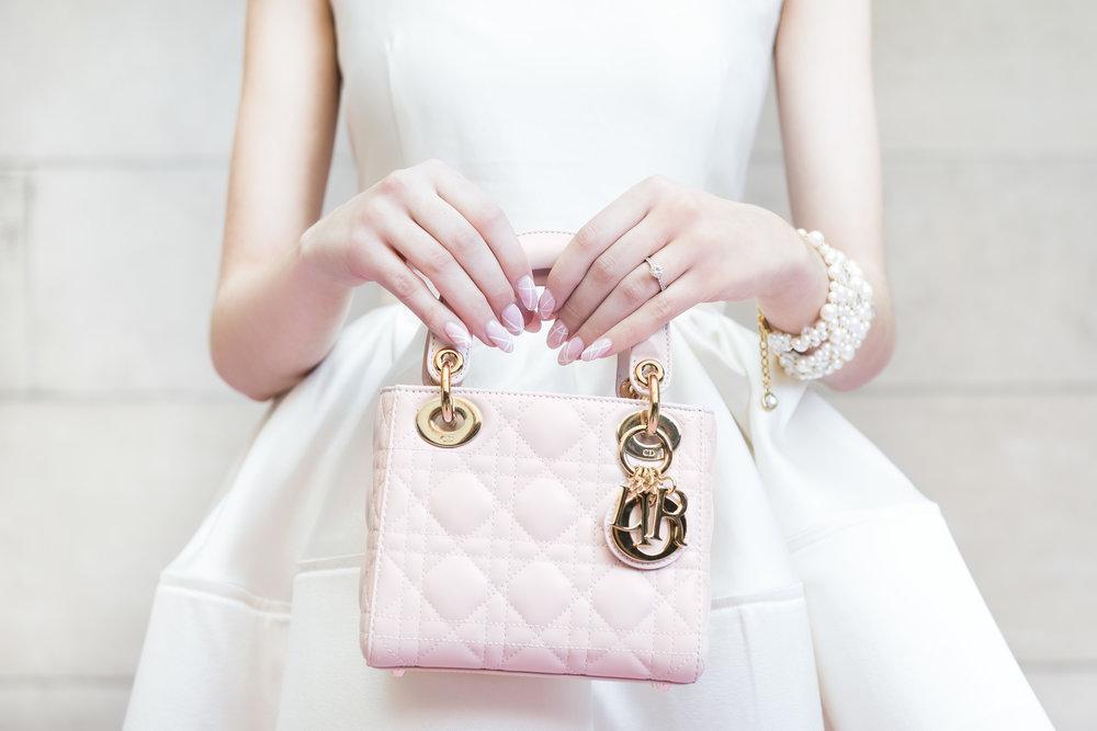 Dior purse & nail art - Dior Darling (Wedluxe)
